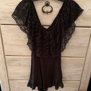 URBAN OUTFITTERS BLACK ROMPER